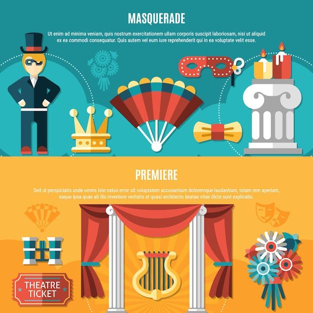 Theater-flyer-set Kostenlosen Vektoren