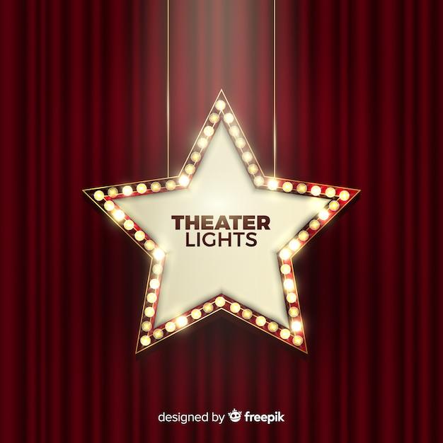 Theater lichter zeichen Kostenlosen Vektoren