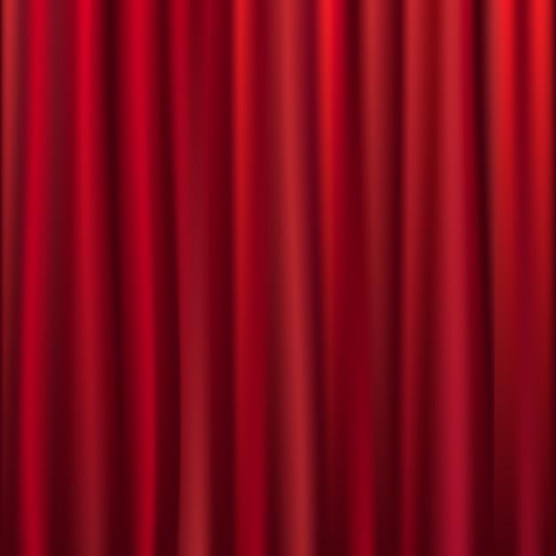 Theater-samt-vorhang mit lichtern und schatten, illustration Premium Vektoren