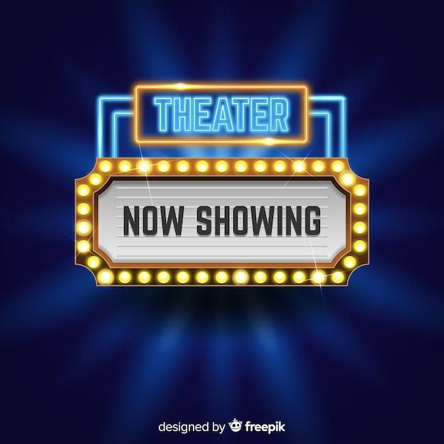 Theater zeichen hintergrund Kostenlosen Vektoren