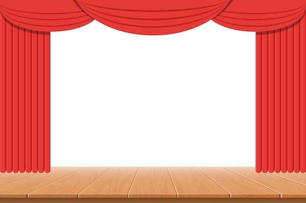 Theatervorhang Premium Vektoren