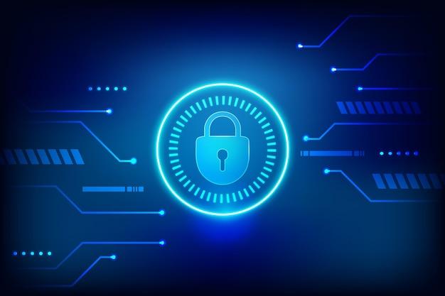 Thema cybersicherheit Kostenlosen Vektoren