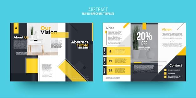 Thema der abstrakten broschürenvorlage Kostenlosen Vektoren