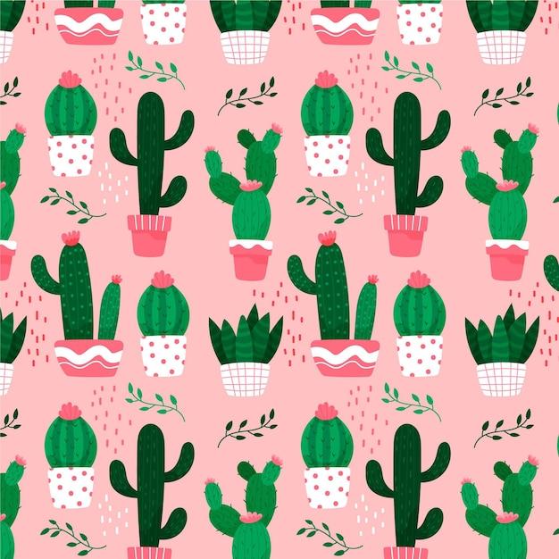 Thema der kaktusmustersammlung Kostenlosen Vektoren