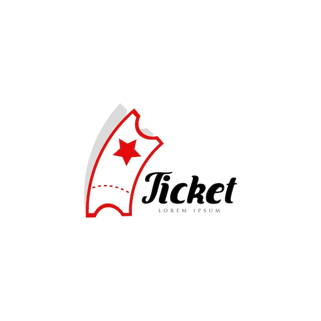 Ticketlogo Premium Vektoren