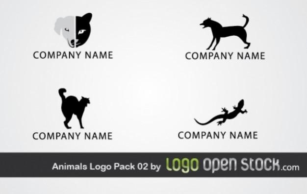 Tier-logo pack 02 Kostenlosen Vektoren
