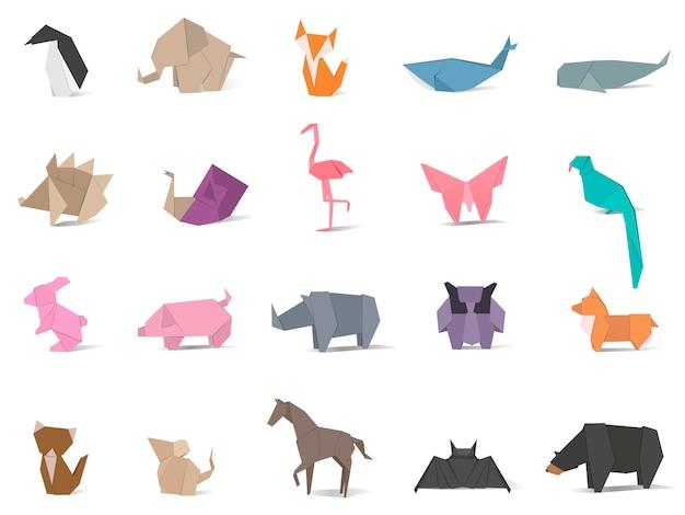 Tier origami vektor Premium Vektoren