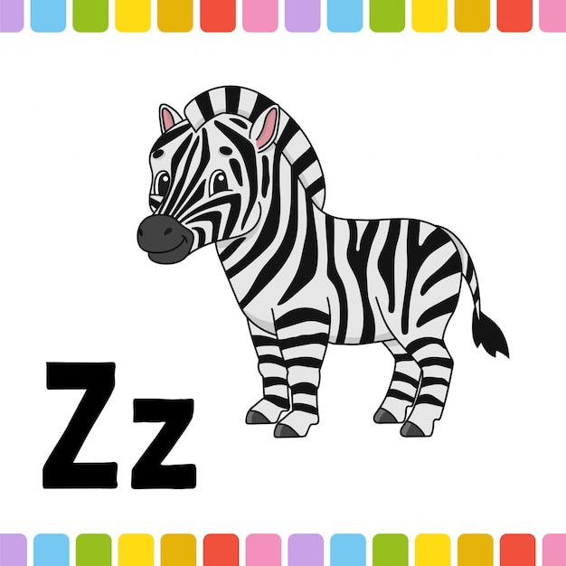 Tieralphabet. zoo abc. karikatur niedliche tiere auf weißem hintergrund. Premium Vektoren