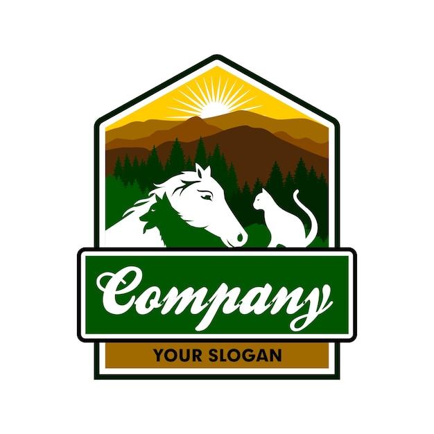 Tiere Pflege Logo Vorlage Download Der Premium Vektor
