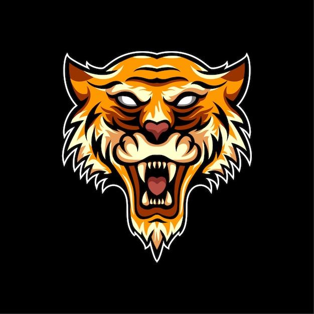 Tiere tiger logo sportart Premium Vektoren