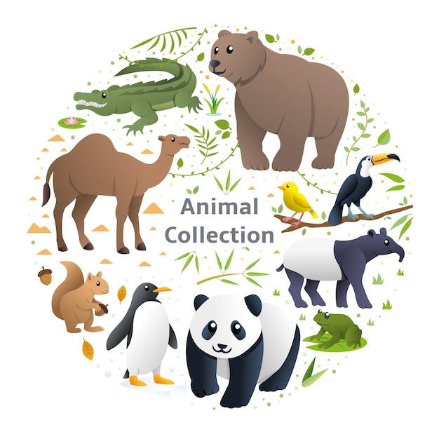 Tiere vektor festgelegt Premium Vektoren