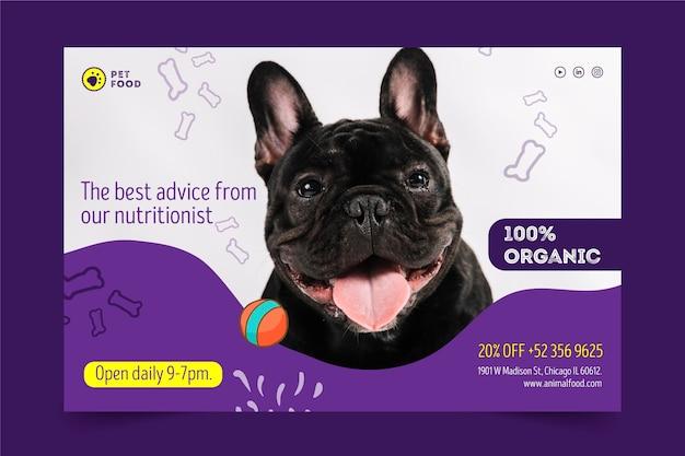 Tierfutter-banner-konzept Kostenlosen Vektoren
