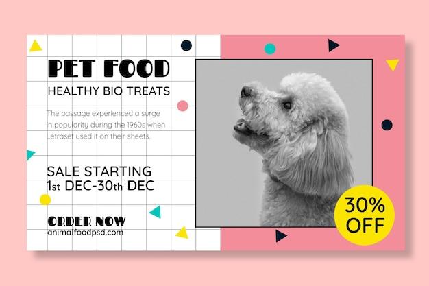 Tierfutter banner vorlage mit foto Kostenlosen Vektoren