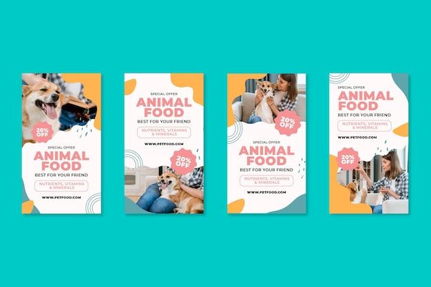 Tierfutter instagram geschichten Kostenlosen Vektoren