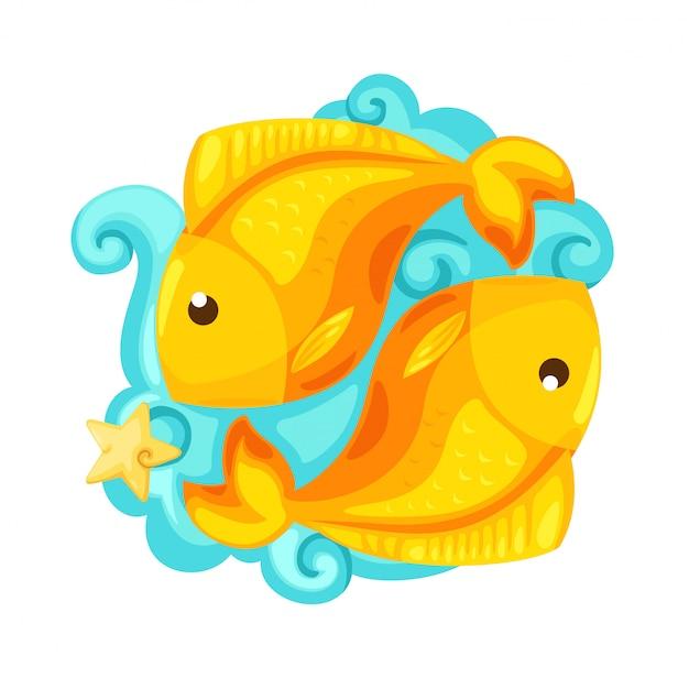 Tierkreiszeichen - fischvektor illustration Premium Vektoren