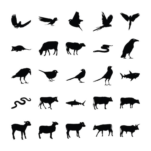 Tierpiktogramme pack Premium Vektoren