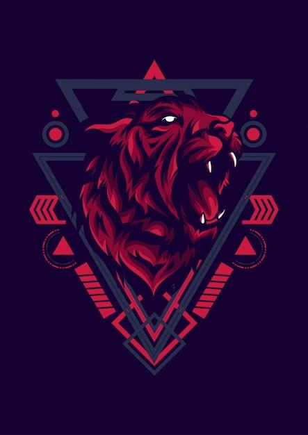 Tiger esport logo Premium Vektoren