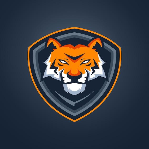 Tiger esports maskottchen Premium Vektoren