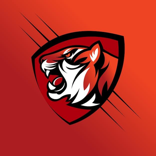 Tiger kopf vektor-logo Premium Vektoren