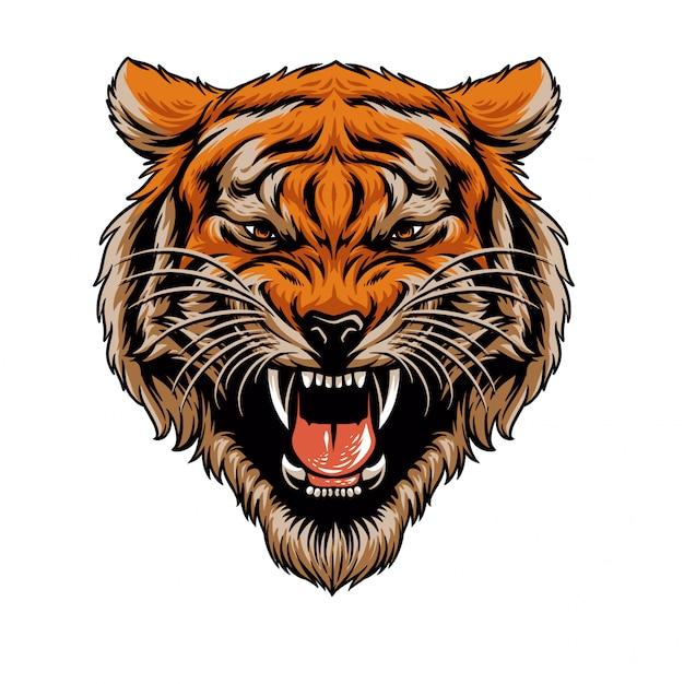 Tiger kopf Premium Vektoren