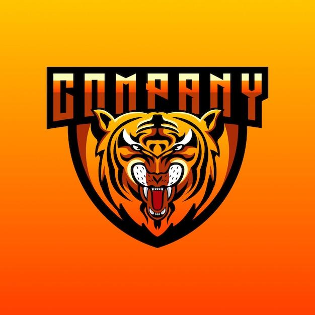 Tiger-logo-design Premium Vektoren