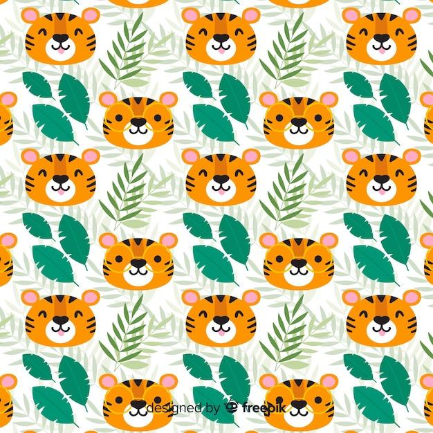 Tiger-muster Kostenlosen Vektoren