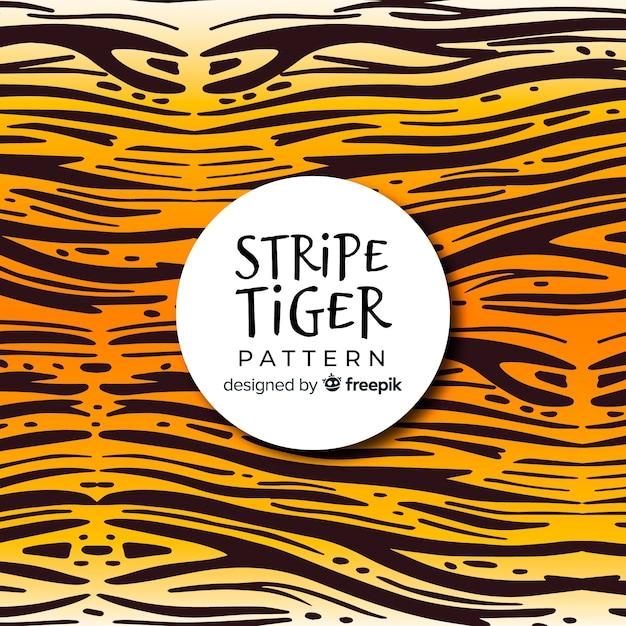 Tiger streifenmuster Kostenlosen Vektoren