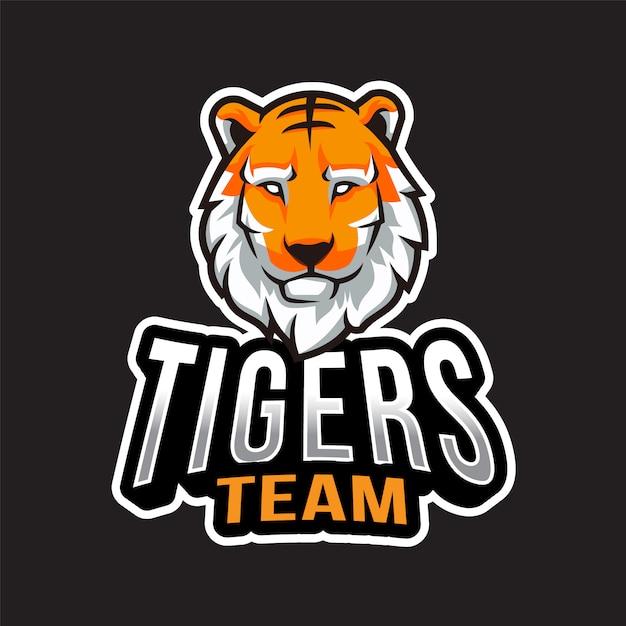 Tiger-team-logo-vorlage Premium Vektoren