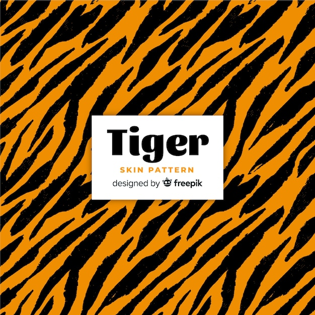 Tigerhautmuster Kostenlosen Vektoren