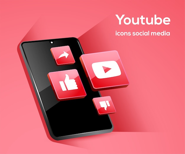 Tiktiok social media icons mit smartphone-symbol Premium Vektoren