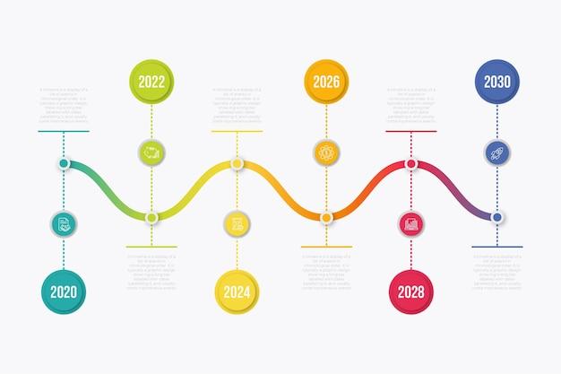 Timeline infografik sammlung design Kostenlosen Vektoren