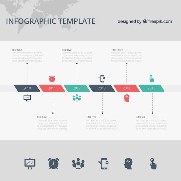 Timeline infografik vorlage Kostenlosen Vektoren