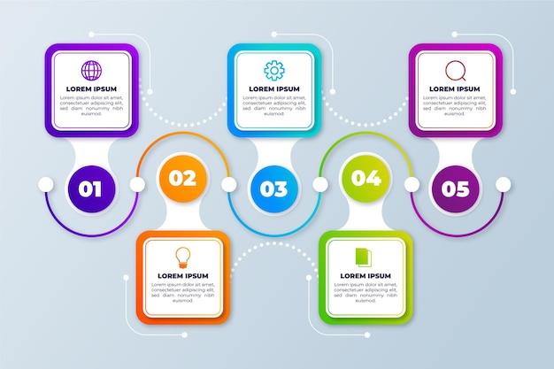 Timeline-infografik-vorlage Kostenlosen Vektoren