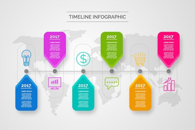 Timeline infografiken thema Kostenlosen Vektoren