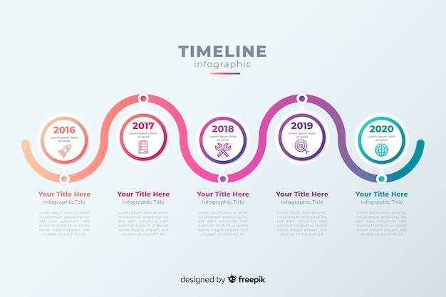 Timeline professionelle infografik Kostenlosen Vektoren