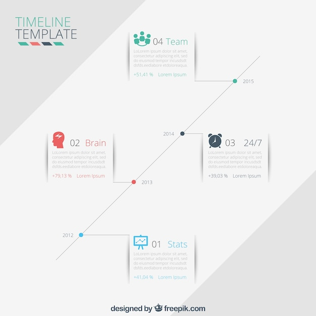 timeline vorlage download der kostenlosen vektor