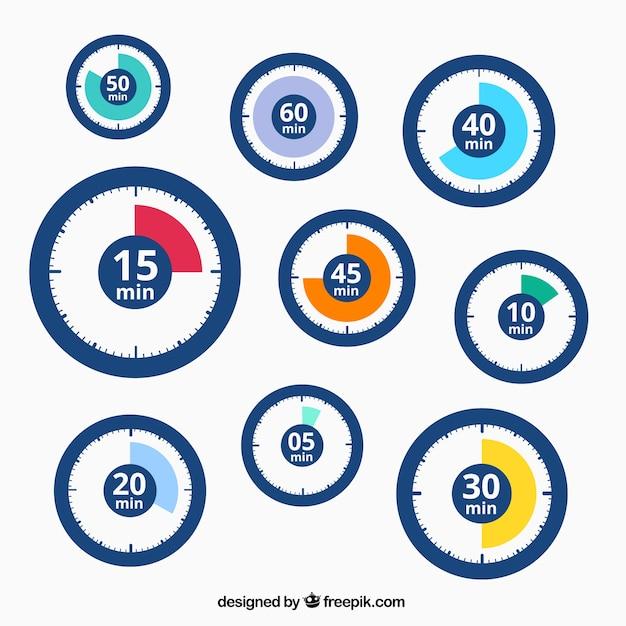 Timer icons Premium Vektoren