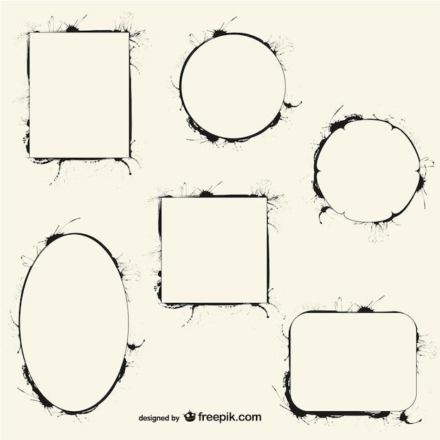 tinte kalligraphie vektor rahmen download der kostenlosen vektor. Black Bedroom Furniture Sets. Home Design Ideas