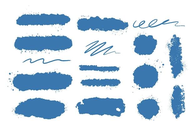 Tintenpinsel-strichsammlung Kostenlosen Vektoren