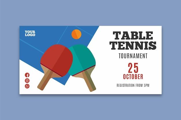 Tischtennis banner vorlage Kostenlosen Vektoren