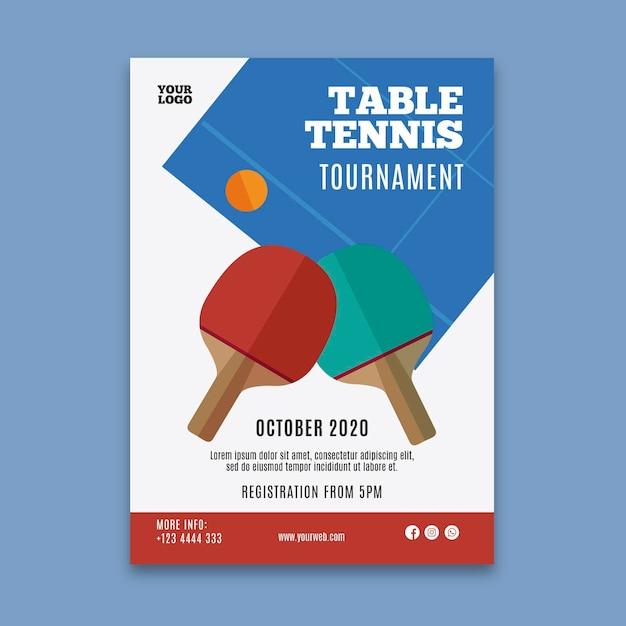 Tischtennis flyer vorlage Kostenlosen Vektoren