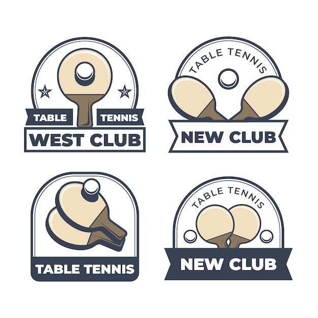 Tischtennis-logo-kollektion Kostenlosen Vektoren