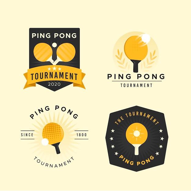 Tischtennis-logo-pack Kostenlosen Vektoren