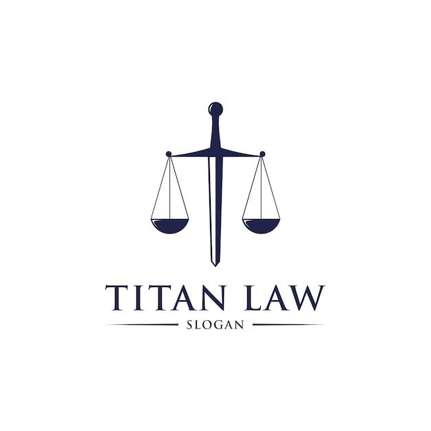 Titan law logo design Premium Vektoren