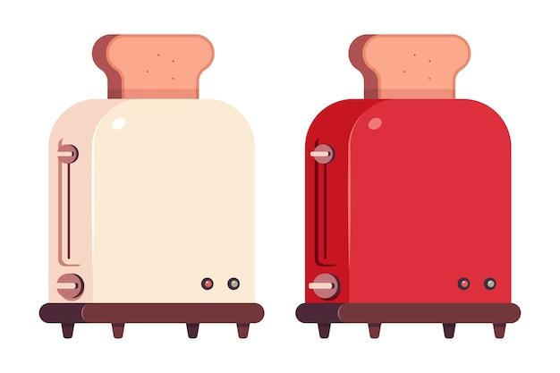 Toaster cartoon-symbole Premium Vektoren