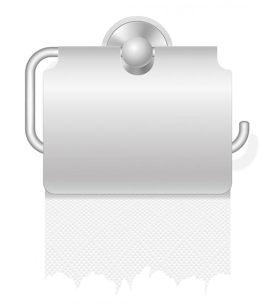 Toilettenpapier auf haltervektorillustration Premium Vektoren