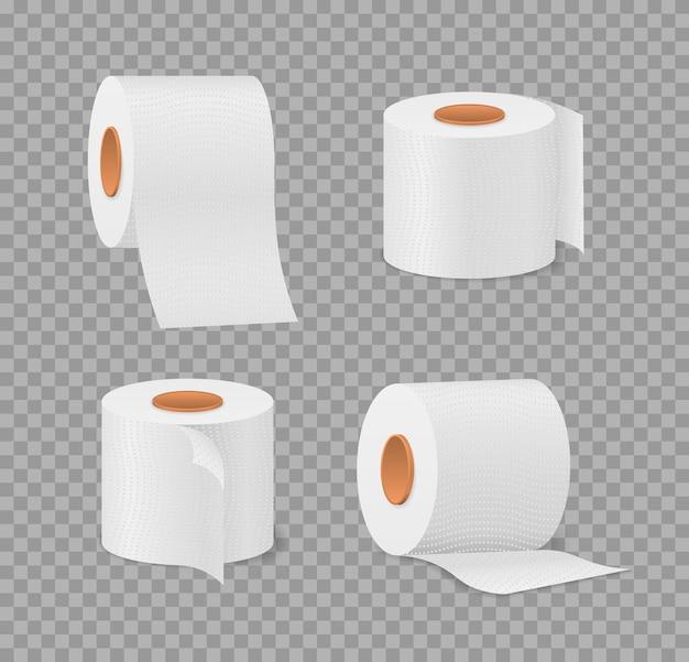 Toilettenpapierrolle für badezimmer- und toilettenillustration Premium Vektoren