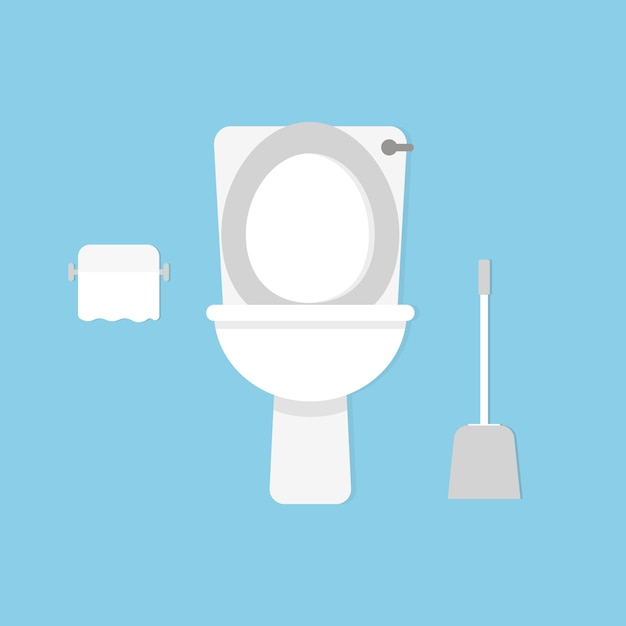 Toilettenschüssel. stil Premium Vektoren