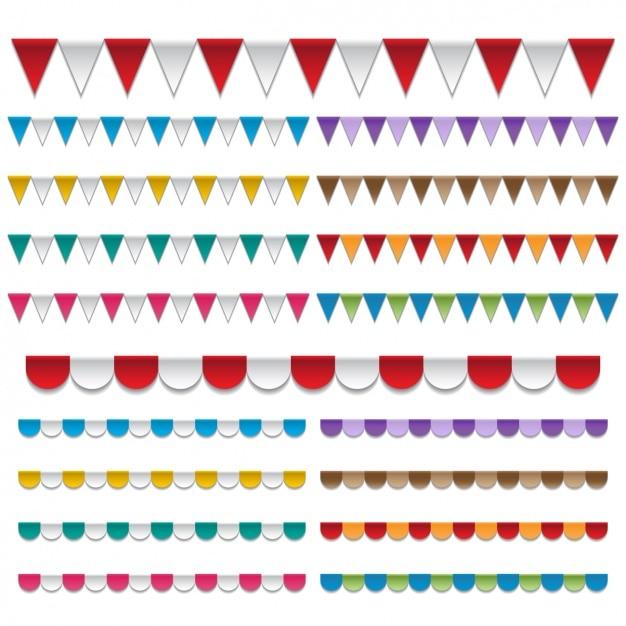 Toldos de colores Kostenlosen Vektoren