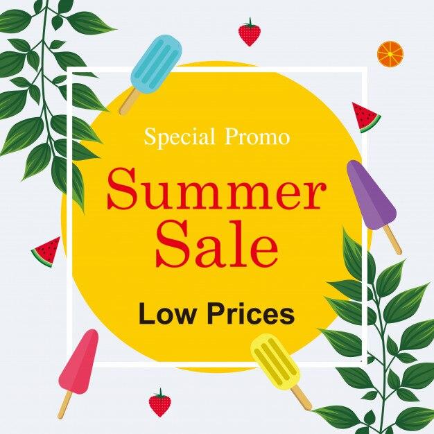 Toller sommerschlussverkauf Premium Vektoren